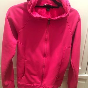 Under Armour Hot Pink zippered Hoodie S 💕
